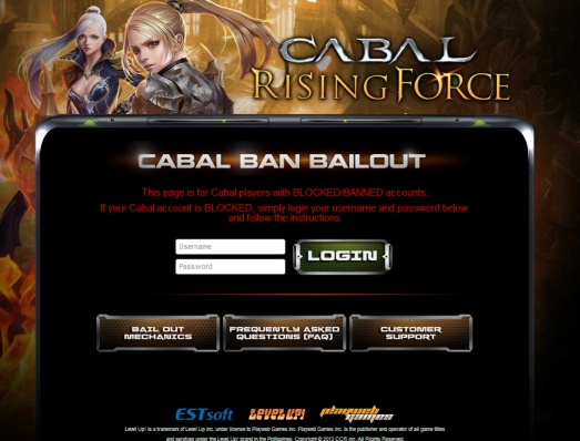 Cabal Ph Bail Out page