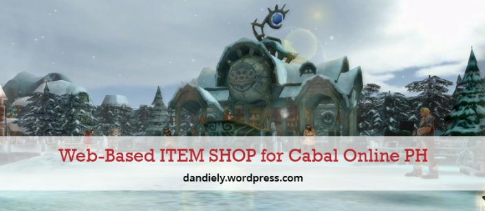 Web-Based-ITEM-SHOP-for-Cabal-Online-PH